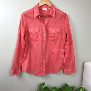 New York & Company Tops - New York & Co Medium Long Sleeve Button Down Shirt